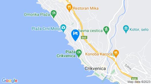 Hotel Vila Ruzica Map