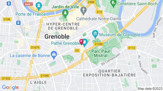 Citadines City Centre Grenoble Map