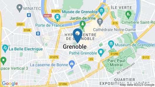 Hôtel d'Angleterre Grenoble Hyper-Centre Map