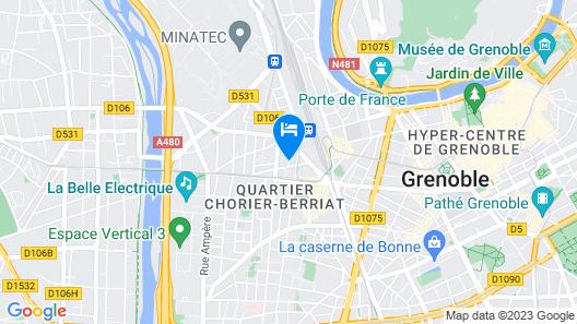 Hipark by Adagio Grenoble Map
