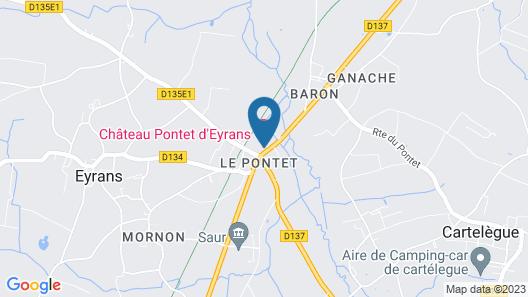 Chateau Pontet d'Eyrans & Spa Map
