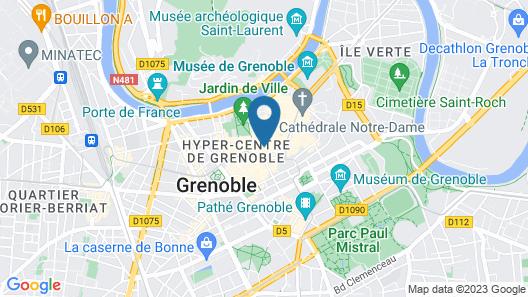 Le Grand Hotel Grenoble Centre Map