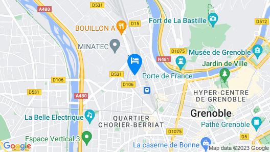 Privilodges Le Hüb Grenoble Map