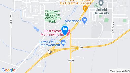 Best Western McMinnville Inn Map