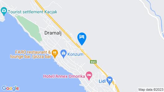 Apartments Djusi Map