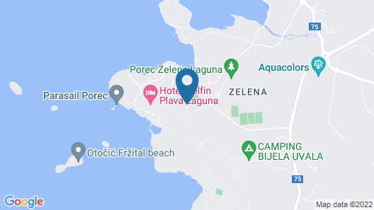 Apartments Astra Plava Laguna Map