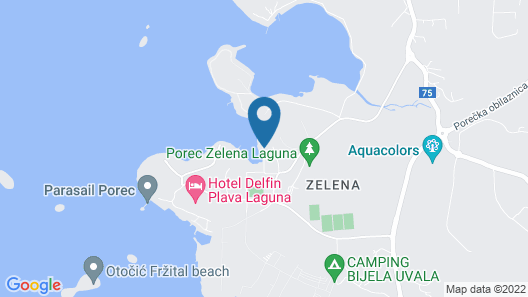 Hotel Zorna Plava Laguna Map