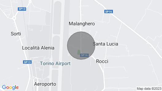House with garden near the airport, Reggia di Venaria and Juventus stadium Map