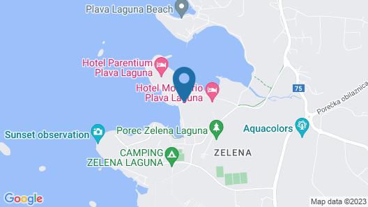 Hotel Plavi Plava Laguna Map