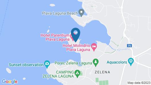 Hotel Parentium Plava Laguna Map
