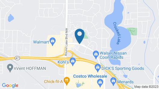 AmericInn by Wyndham Coon Rapids Map