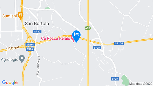 Cà Rocca Relais Map