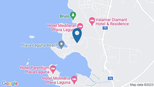 Apartments Bellevue Plava Laguna Map