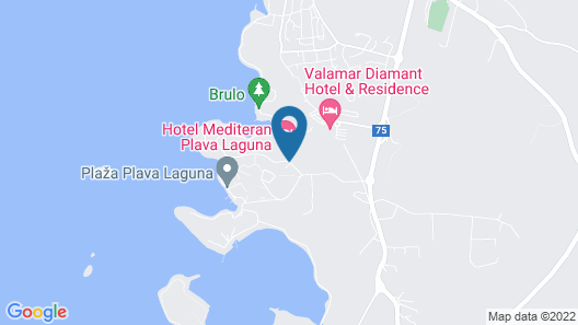 Hotel Mediteran Plava Laguna Map