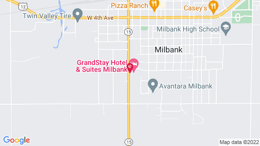Grandstay Hotel and Suites Milbank Map