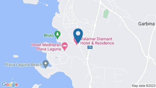 Valamar Diamant Hotel Map