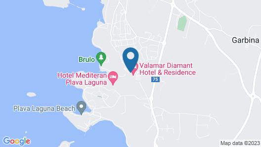 Valamar Diamant Residence Map