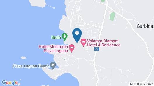 Valamar Crystal Hotel Map