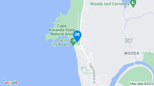 Headlands Coastal Lodge & Spa Map