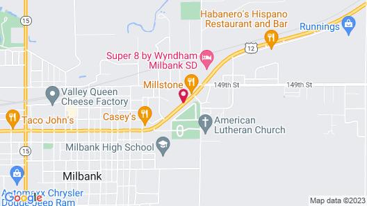 Super 8 by Wyndham Milbank SD Map