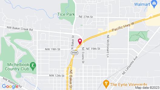 McMinnville Inn Map