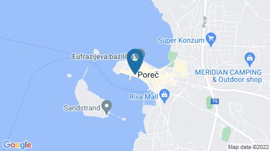 Valamar Riviera Hotel & Residence Map