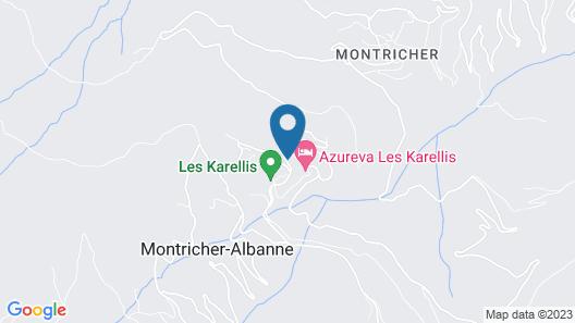 Odésia Vacances Village les Karellis Map