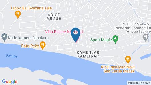 B&B Villa Palace Map