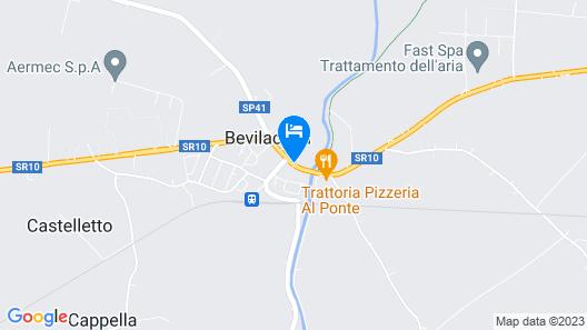 Relais Castello Bevilacqua Map
