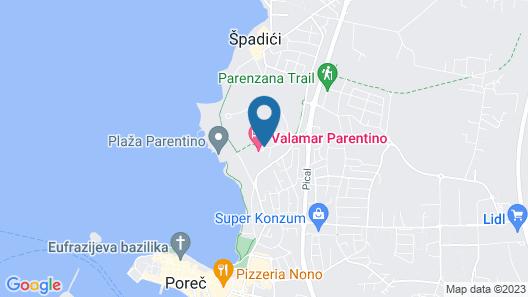 Valamar Parentino hotel ex. Zagreb Map