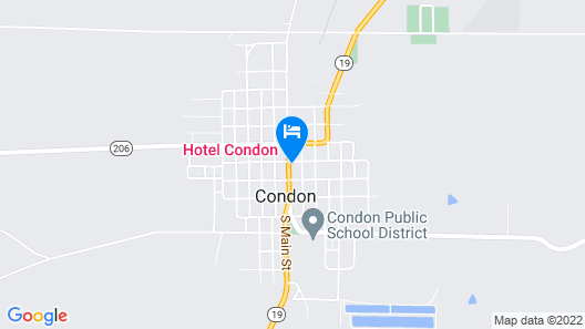 Historic Hotel Condon Map