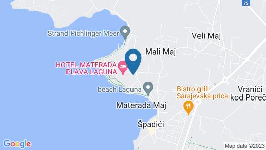 Hotel Materada Plava Laguna Map