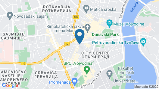 Hotel Pupin Map