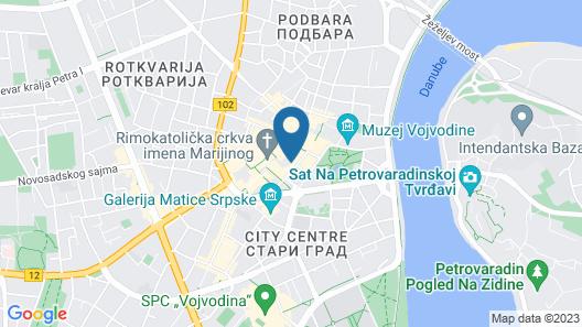 Zenit Hotel Map