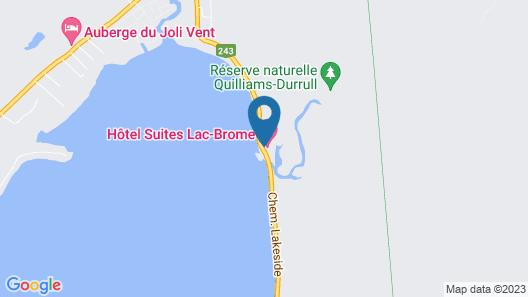 Hôtel Suites Lac-Brome Map