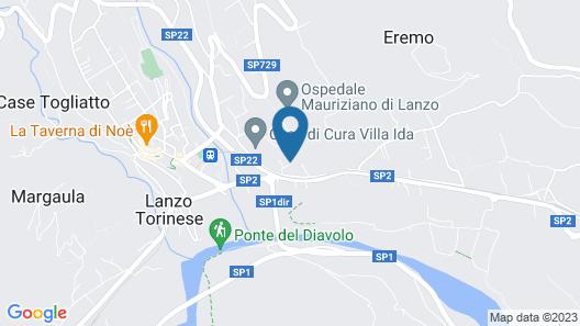 Villa Erre - Literary B&B Map