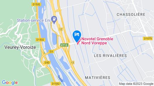 Novotel Grenoble Nord Voreppe Map