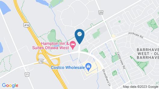 Hampton Inn & Suites Ottawa West Map