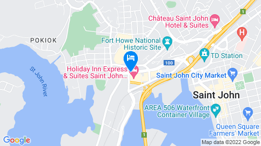 Holiday Inn Express Saint John Harbour Side Map