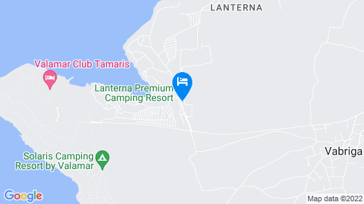 Mediteran kamp Mobile Homes in Camping Lanterna Map