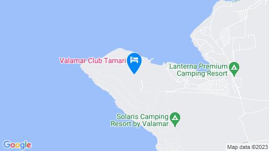 Valamar Tamaris Resort Map