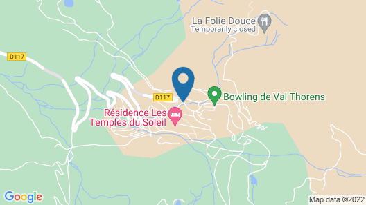 Hôtel Club mmv Val Thorens - Les Arolles Map