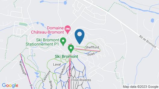 Condos Château-Bromont Map