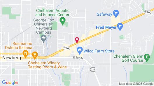Best Western Newberg Inn Map