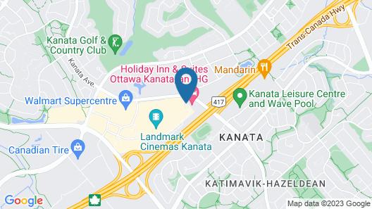 Holiday Inn Hotel & Suites Ottawa Kanata Map