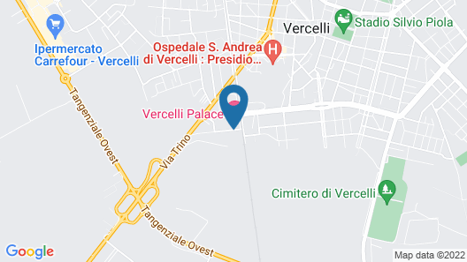 Vercelli Palace Hotel Map