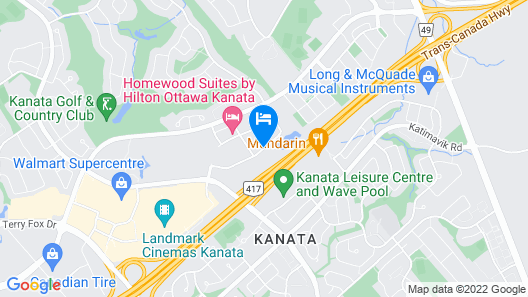 TownePlace Suites by Marriott Ottawa Kanata Map