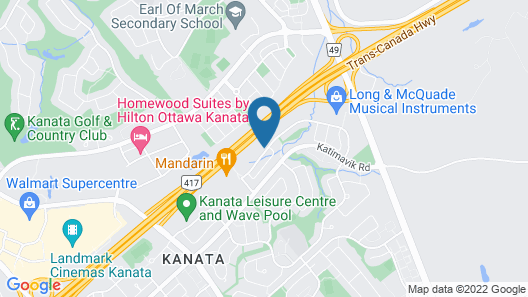 Comfort Inn Ottawa West Kanata Map