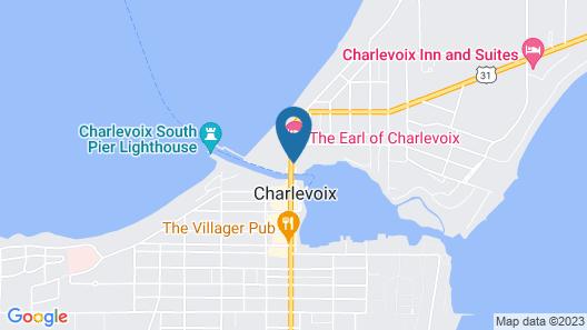 Edgewater Inn- Charlevoix Map