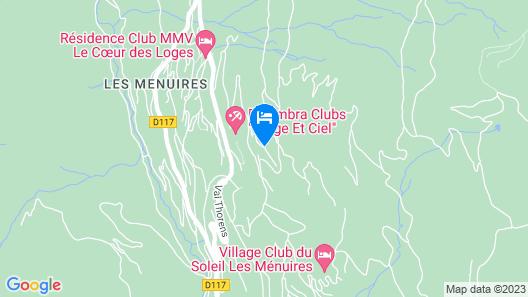 Residence Soleil Vacances Les Ménuires Map